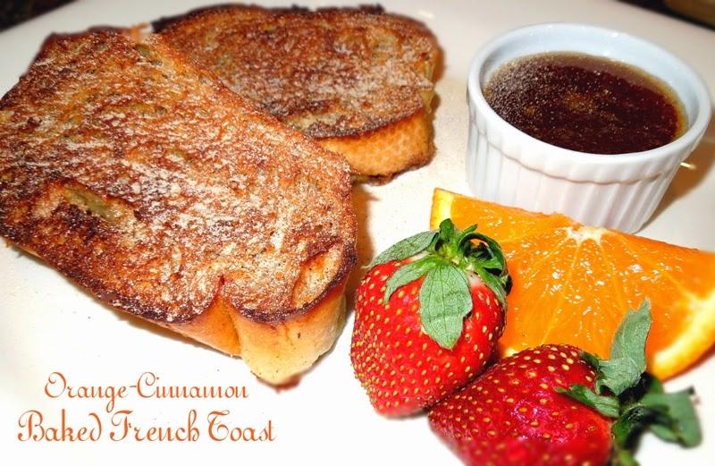 Orange Cinnamon Baked French Toast And Orange Syrup