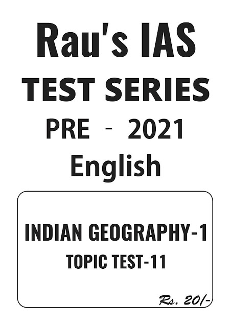 Rau's IAS Indian Geography Test Series -2021 : For UPSC Exam PDF Book