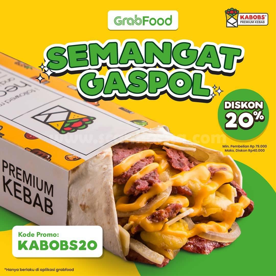 KABOBS Promo Spesial GRABFOOD Diskon hingga 20%