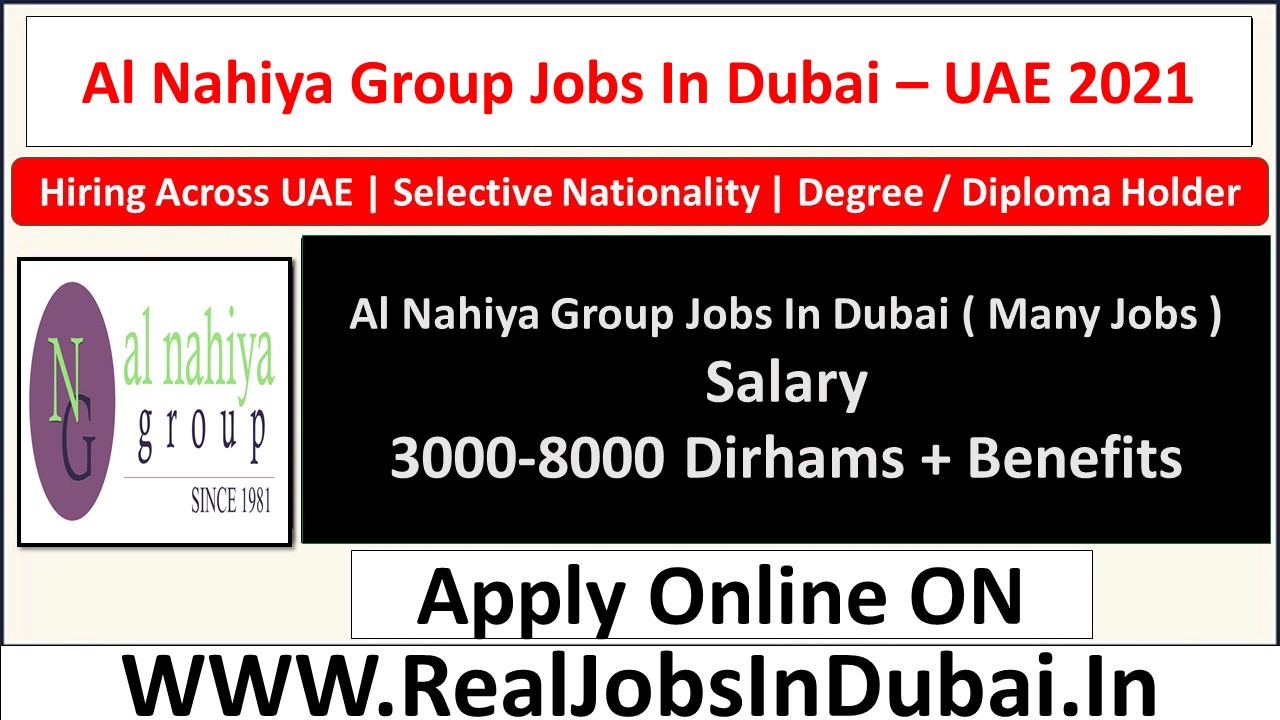al nahiya group careers, al nahiya group dubai careers,