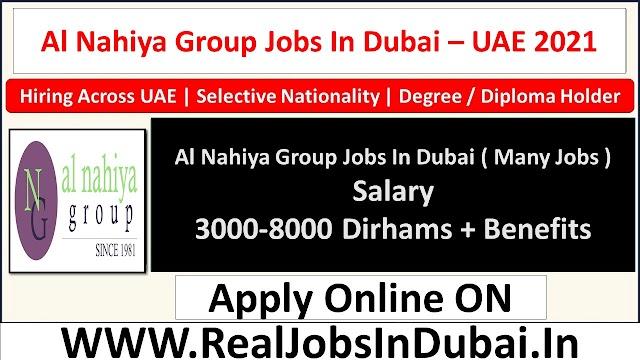 Al Nahiya Group Hiring Staff In UAE 2021