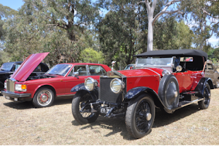 Vintage car display at Linnwood House Open Day