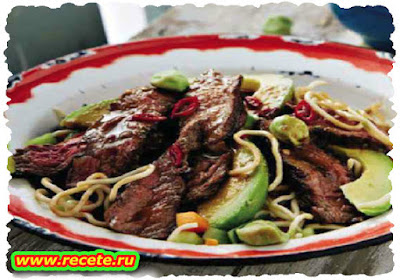 Asian steak & noodle salad