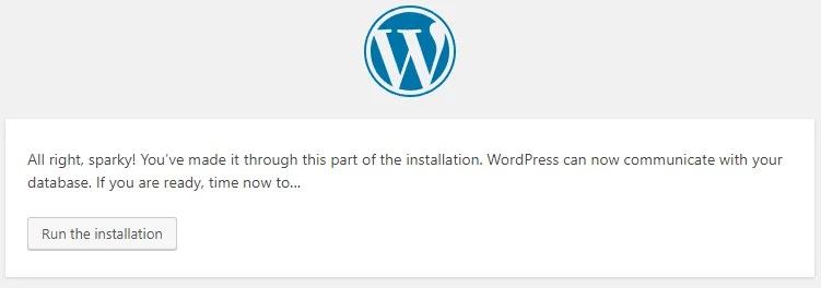 Menjalankan Instalasi Wordpress