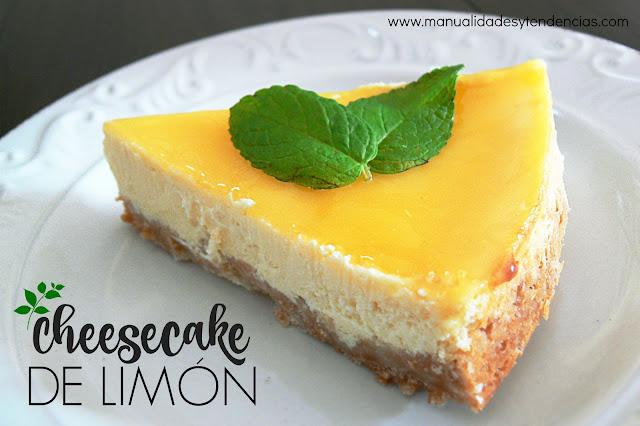 Receta de tarta de queso o cheesecake de limón
