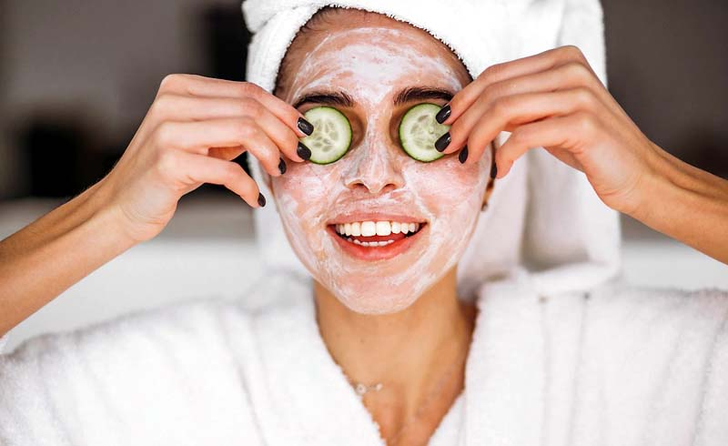 Collagen-Building Cucumber Spa Water + Calming Face Mask