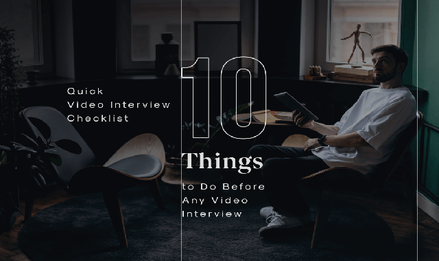 10 Things You Absolutely Must Do Before Your Video Job Interview #infographic