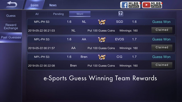 eSports Guess Game Mobile Legends