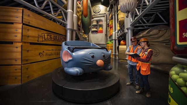 Remy's Ratatouille Adventure Epcot Construction Photo Refrigerator