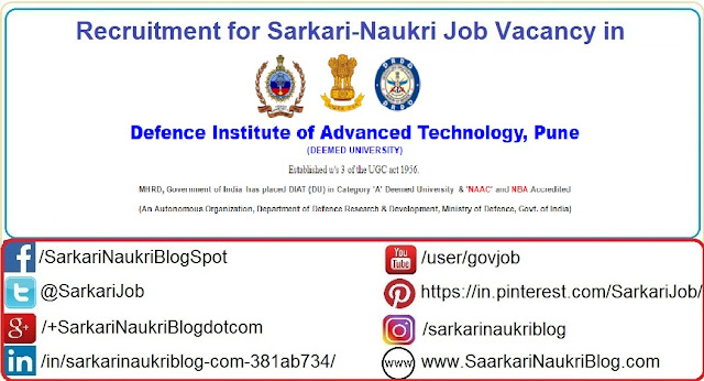Naukri Vacancy Recruitment DIAT