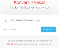 Cara convert video ke audio