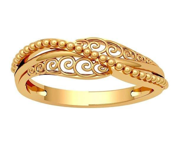 خواتم ذهب رقيقه جدا 7 | Simple gold rings 7