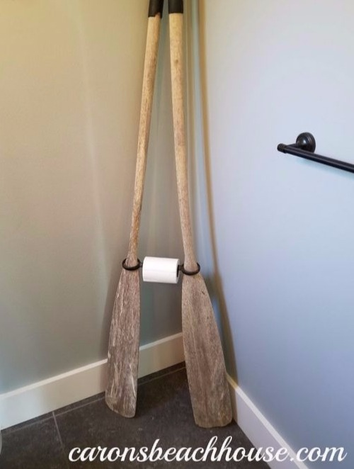 DIY Toilet Paper Roll Holder with Oars