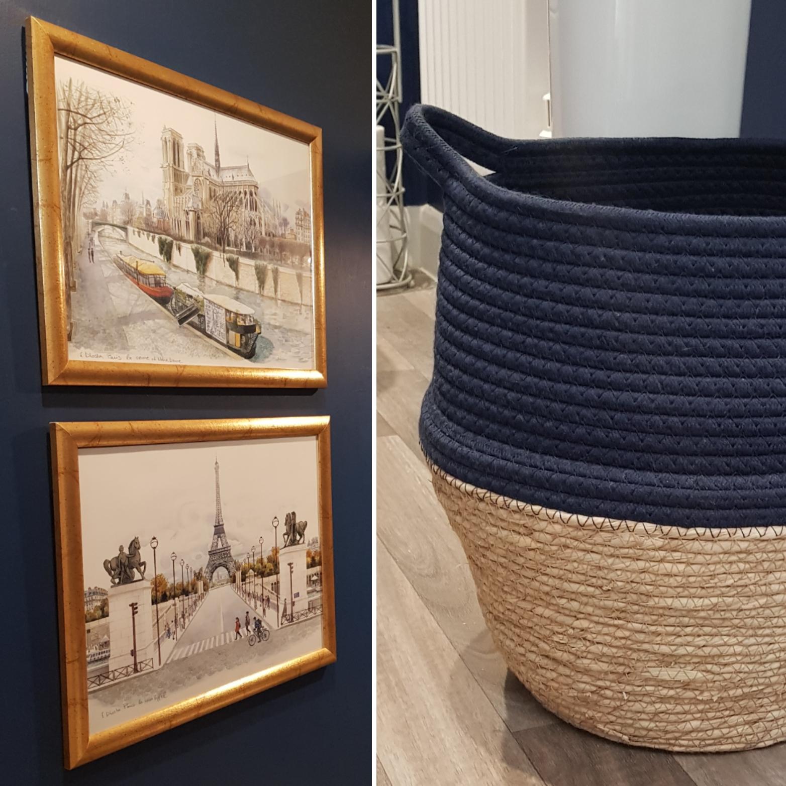 Budget Room Makeover: Artwork & Basket