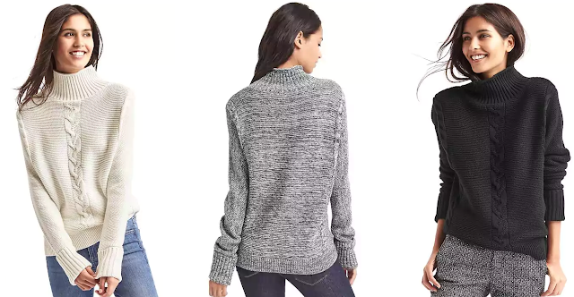 Gap Plait Cable Knit Mockneck Sweater $24 (reg $70)