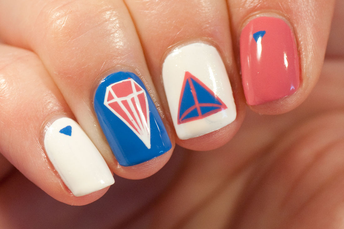 Geometric nail art with MoYou Flower Power 21