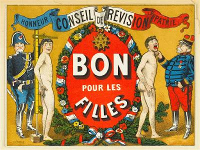 Bulletin humoristique de conscrit, Musée de l'Armée de Paris