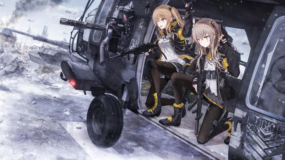 Anime, Girls Frontline, Guns, Rifle, Helicopter, 4K, #7