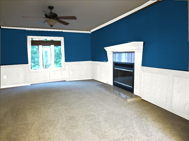 What Do You Think It S A Huge Change Isn T I Used The Sherwin Williams Paint Visualizer To Living Room This Color Is Called Loyal Blue