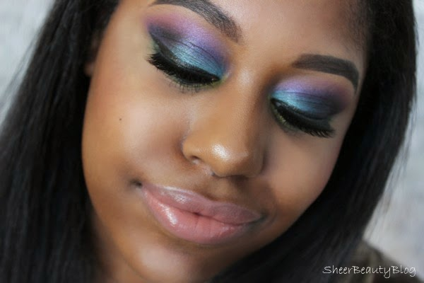 colorful eye makeup with makeup geek shadows