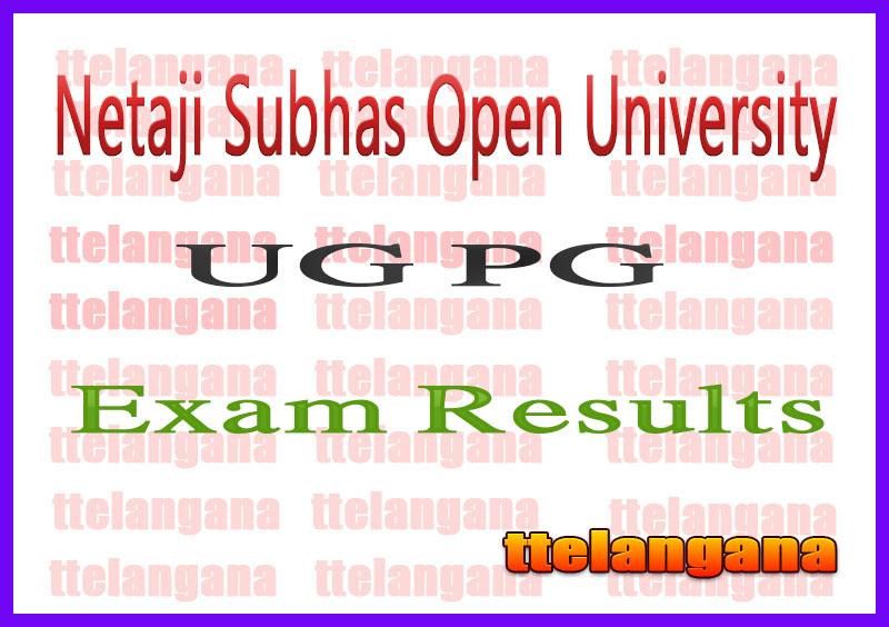 NSOU University UG PG Exams Result