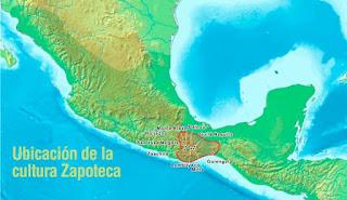 Ubicación de la cultura Zapoteca