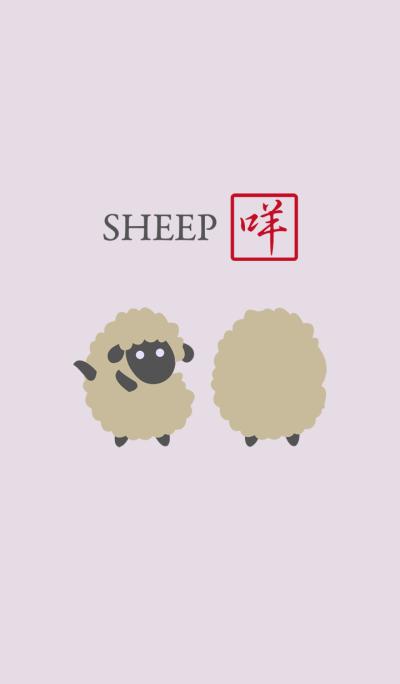Cute black-faced sheep