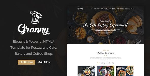 HTML Template - Granny Elegant Restaurant dan Cafe