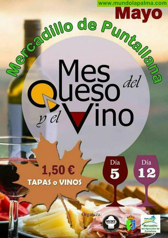 Mes del queso y el vino en el Mercadillo de Puntallana