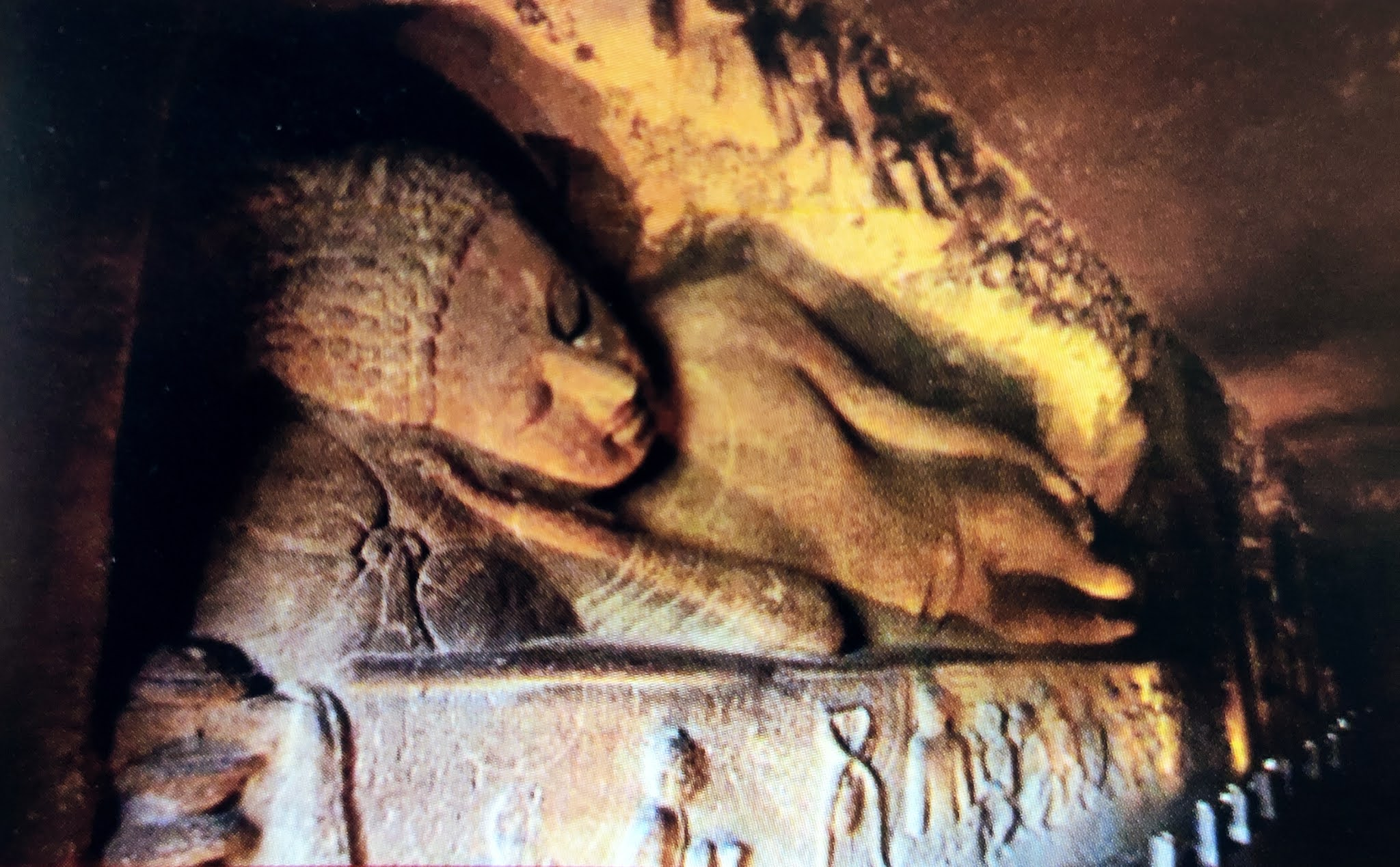 Image contains inside image of ajanta caves