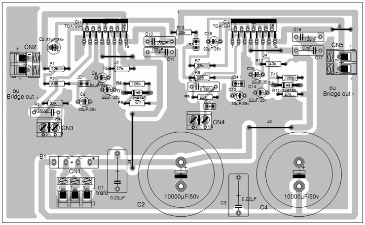 100w subwoofer amplifier circuit diagram 3 phase ac wiring amplifiercircuits.com: tda7294