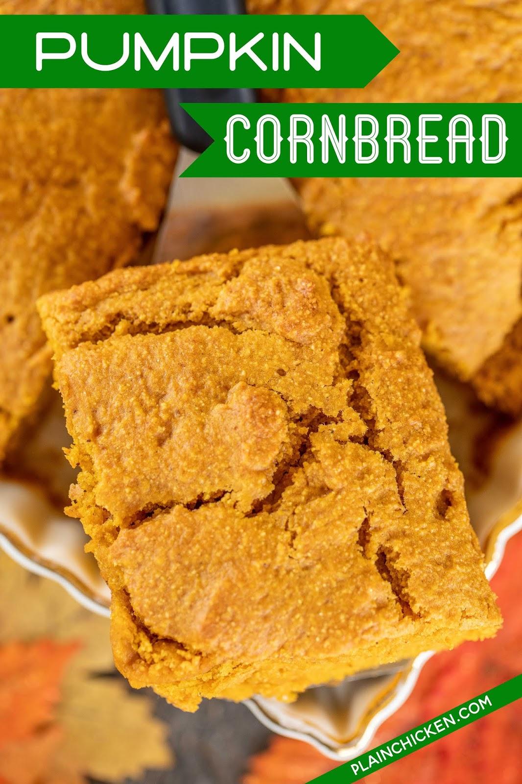 slice of pumpkin cornbread
