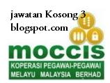 Jawatan Kosong Koperasi Pegawai Melayu Malaysia Berhad (MOCCIS) 26 OGOS 2016