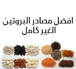 مثادر البروتين النباتي