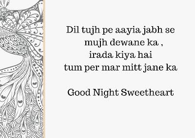 Good Night Shayari with image by inder raikot