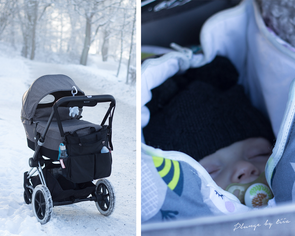 Plunge by tiia - Cybex Priam in wintery Stockholm