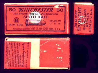 Spotlight Win. .22 Ammo Vintage Box Full Correct