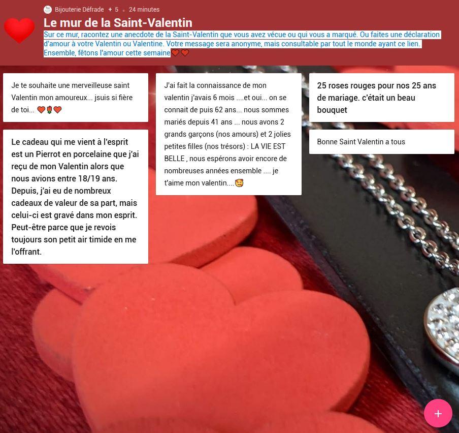 Le mur de la Saint Valentin