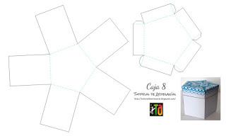 Molde imprimible gratis caja mensajes de Tutorial de Artesania