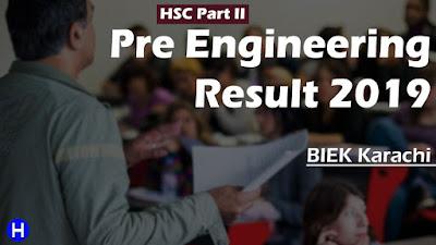 HSC Part 2 Pre Engineering Result 2019 BIEK