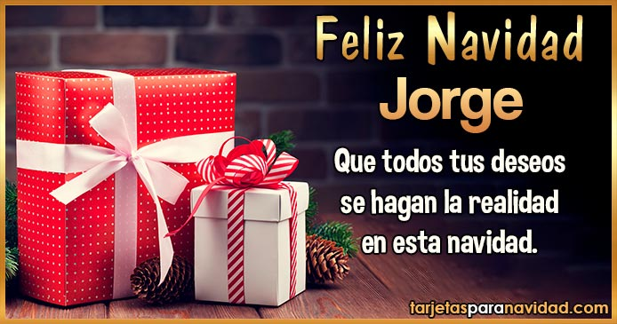 Feliz Navidad Jorge