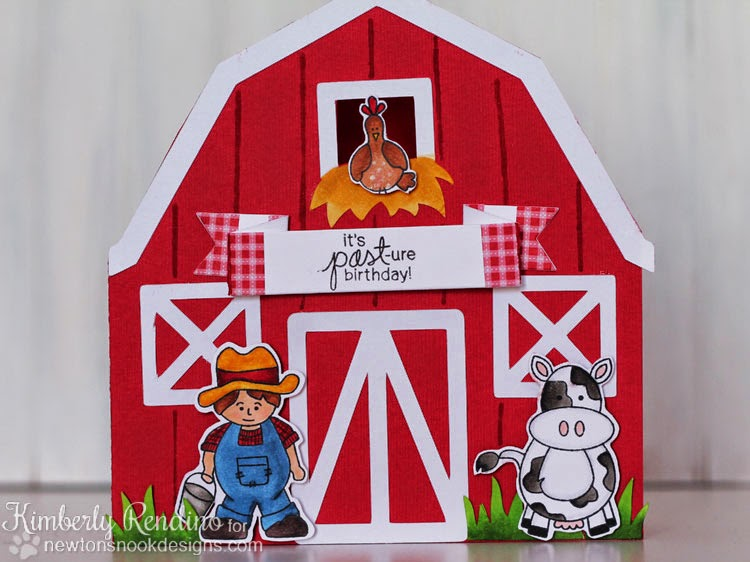 Farmyard Frends card by Kimberly Rendino | Newton's Nook Designs