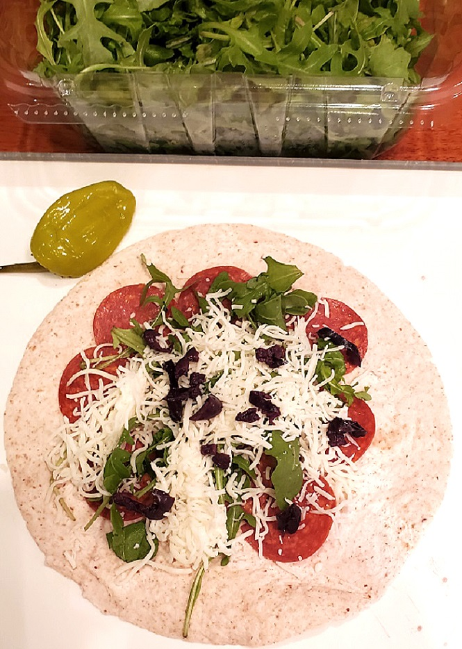 these are flour tortilla with ingredients in the middle to turn them into pinwheels when cut for appetizers