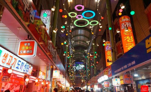 Chợ đêm ẩm thực Bupyeong.