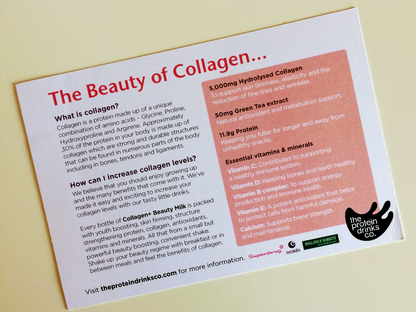 Collagen Beauty Milk info card