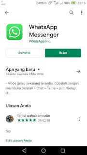 Dark Mode WhatsApp Akhirnya Tersedia di Indonesia, Begini Cara Pemakaiannya