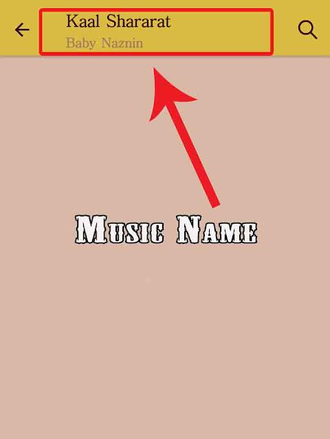 music name