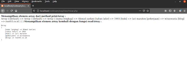 Tutorial PHP : Mengakses Variabel Diluar Class