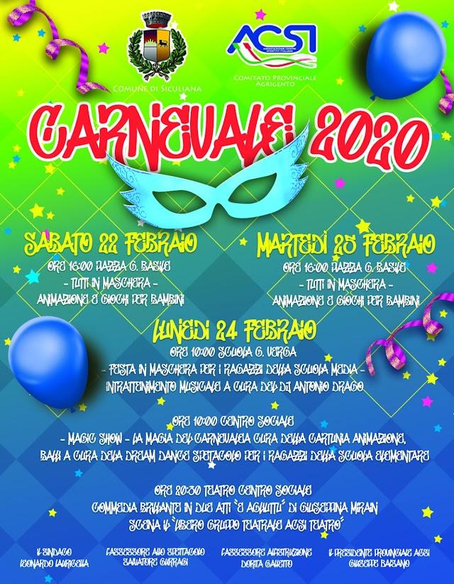 22, 24, 25 Febbraio - Carnevale 2020: Il programma