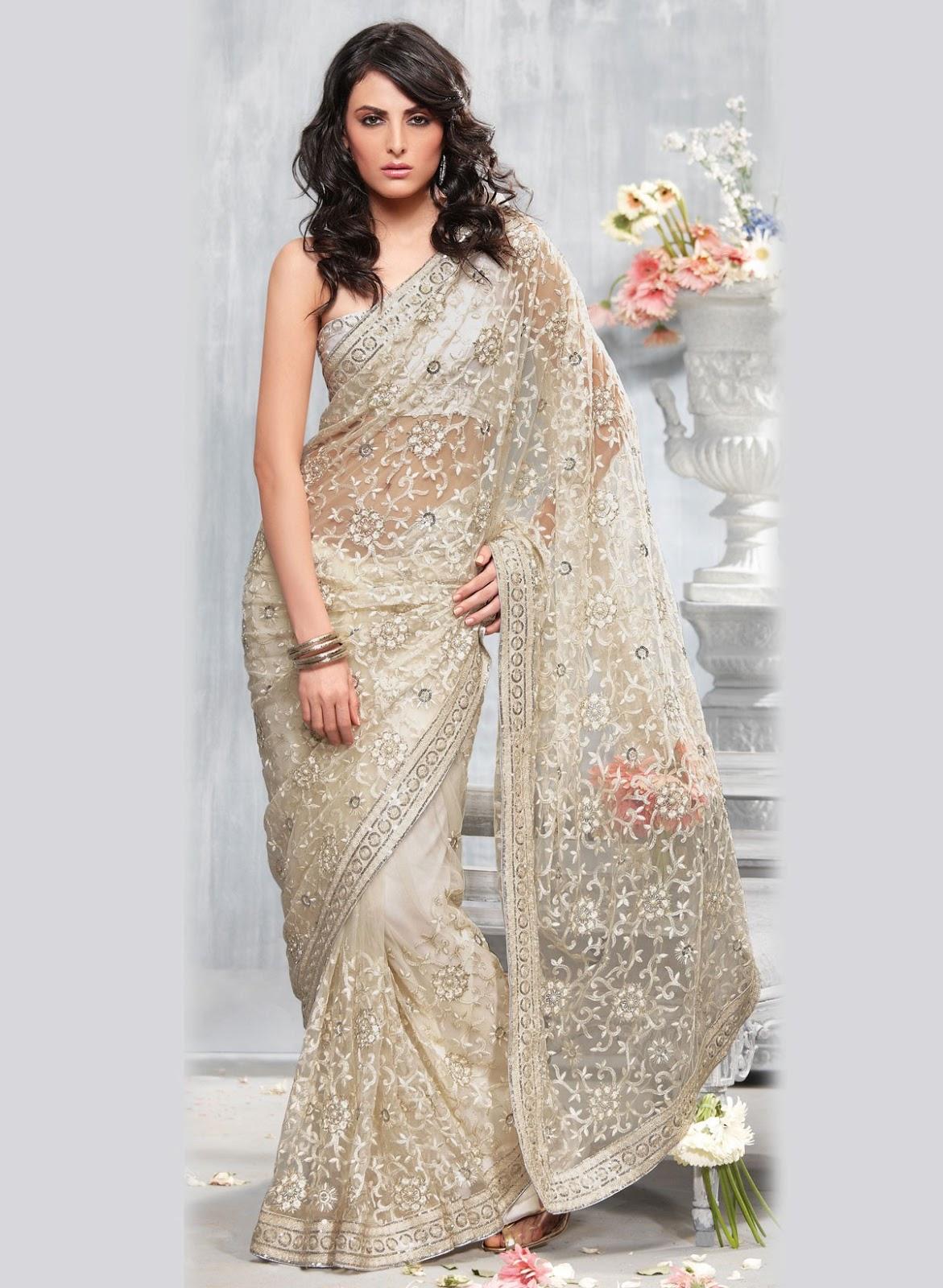 White Saree Tamanna In Veeram: A WEDDING PLANNER: Party Wear Sares, Cocktail Sarees, Lace